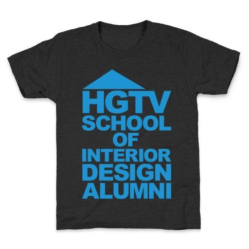 HGTV School of Interior Design Parody White Print Kids T-Shirt