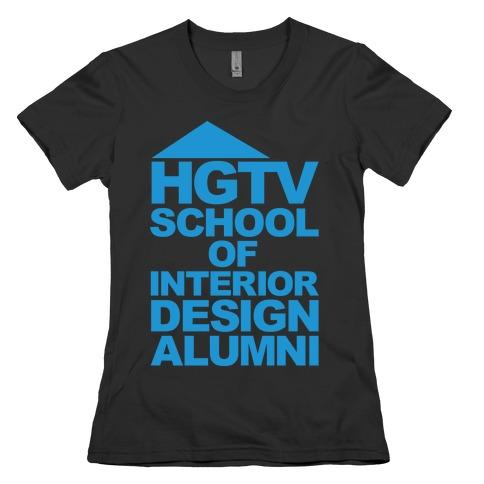 HGTV School of Interior Design Parody White Print Womens T-Shirt