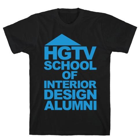 HGTV School of Interior Design Parody White Print T-Shirt