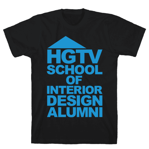 HGTV School of Interior Design Parody White Print Mens T-Shirt