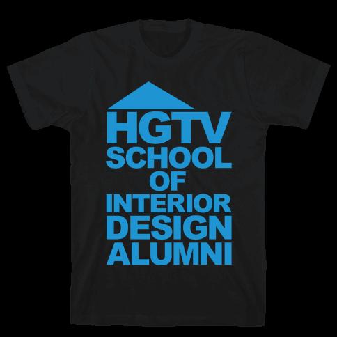 HGTV School of Interior Design Parody White Print Mens T-Shirt