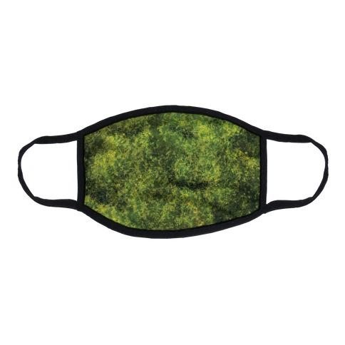 Artistic Moss Flat Face Mask