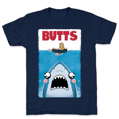 BUTTS Jaws Parody T-Shirt