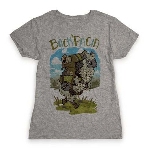 Back'Pacin Alpaca Womens T-Shirt