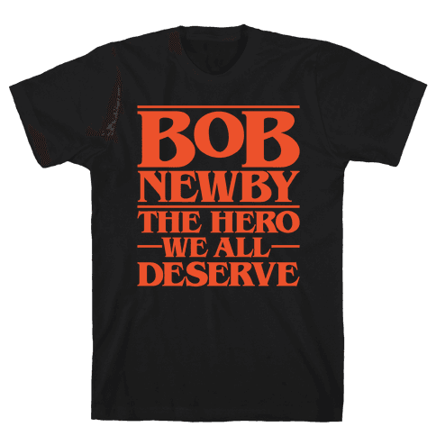 Bob Newby The Hero We All Deserve Parody White Print Mens T-Shirt