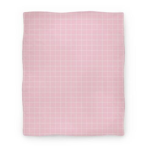Pink Grid Blanket
