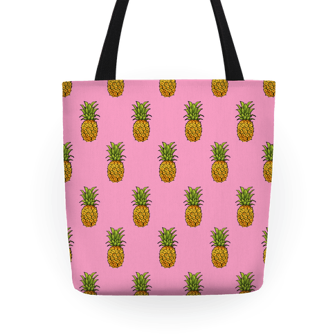 Pink Pineapple Pattern Tote