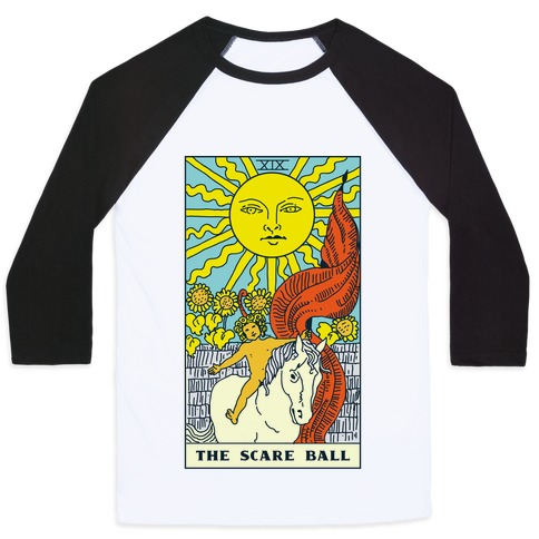 The Scare Ball Tarot Baseball Tee