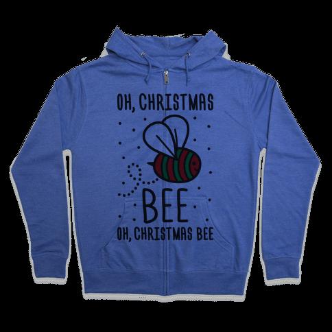 Oh, Christmas Bee Zip Hoodie