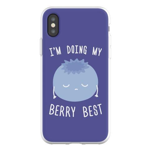 I'm Doing My Berry Best Phone Flexi-Case