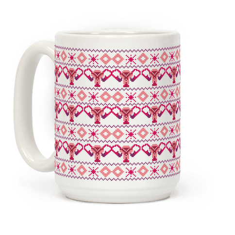 Cuterus Uterus Pattern Coffee Mug