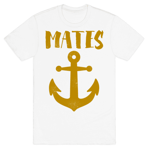 Best Mates Anchor (cmyk) Mens T-Shirt