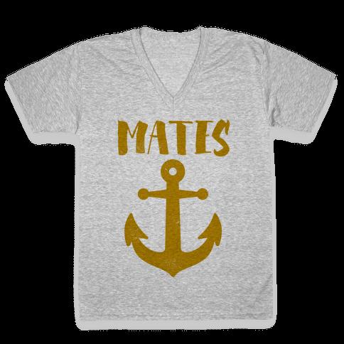 Best Mates Anchor (cmyk) V-Neck Tee Shirt