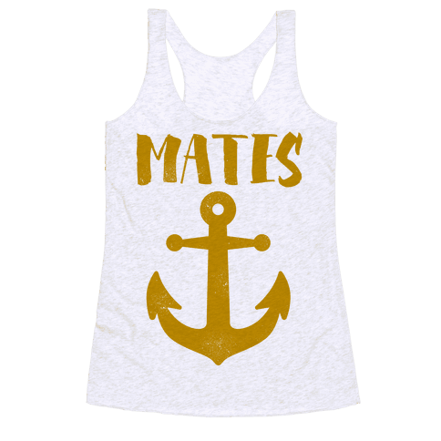 Best Mates Anchor (cmyk) Racerback Tank Top