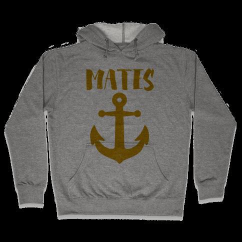 Best Mates Anchor (cmyk) Hooded Sweatshirt