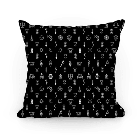 Tarot Icon Pattern Pillow