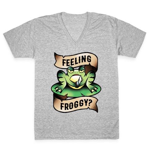 Feeling Froggy? V-Neck Tee Shirt