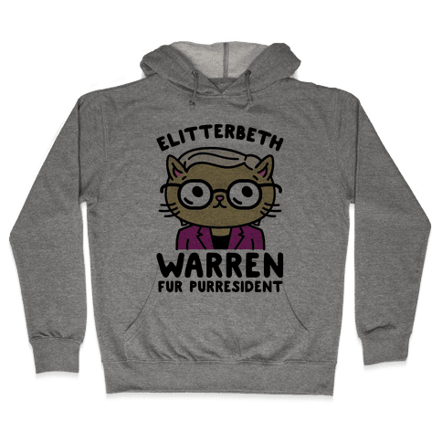 Elitterbeth Warren Fur Purresident Hooded Sweatshirt