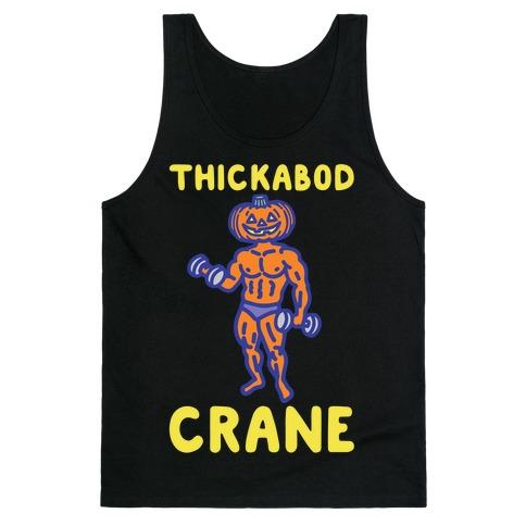Thickabod Crane Parody White Print Tank Top