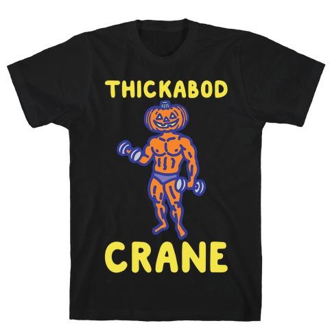 Thickabod Crane Parody White Print T-Shirt