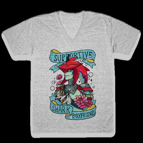 Prince Sidon: Supportive Shark Boyfriend V-Neck Tee Shirt