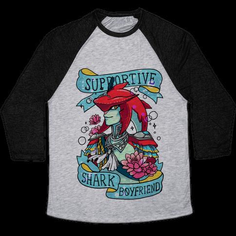 Prince Sidon: Supportive Shark Boyfriend Baseball Tee