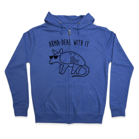 Arma-Deal With It Armadillo Zip Hoodie