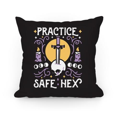 Practice Safe Hex Pillow