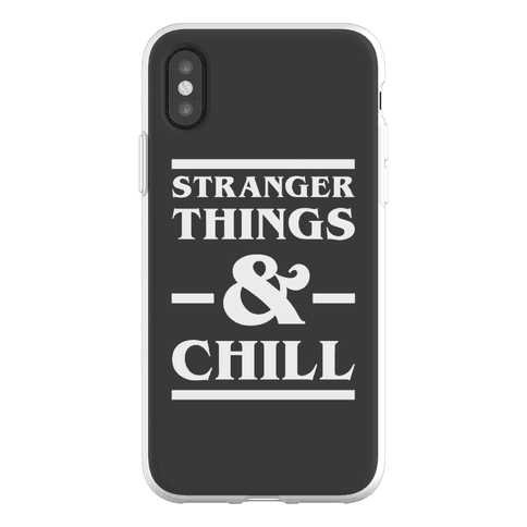 Stranger Things and Chill Phone Flexi-Case