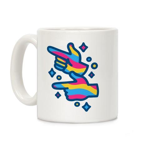 Pansexual Pride Finger Guns Coffee Mug