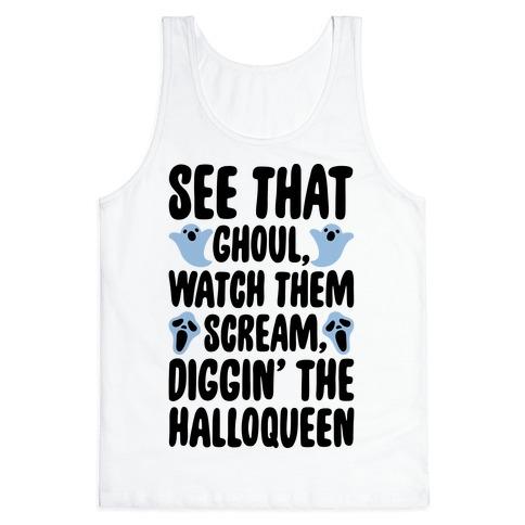 Halloween Dancing Queen Parody Tank Top