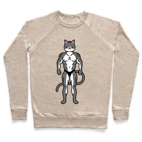 Buff Cat Grey Tabby Pullover
