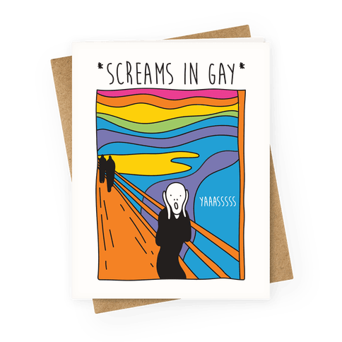 Screams In Gay Edvard Munch Parody Greeting Card