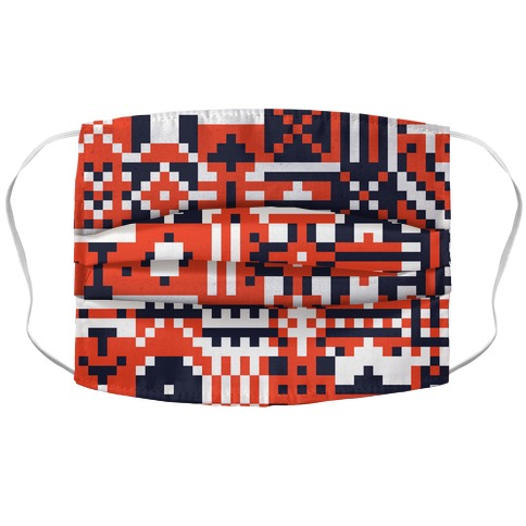 Square Pixel Pattern Face Mask