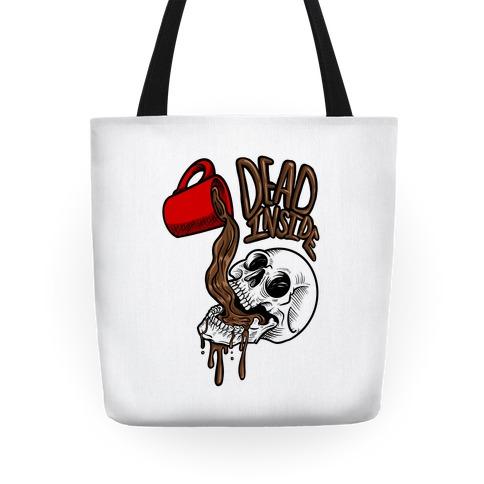 Dead Inside Skull & Coffee Tote