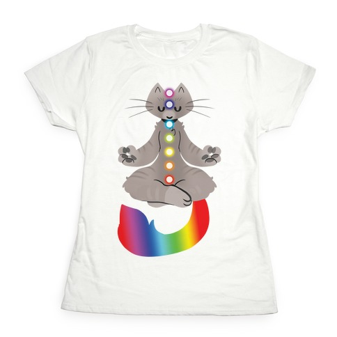 Chakra Cat Womens T-Shirt