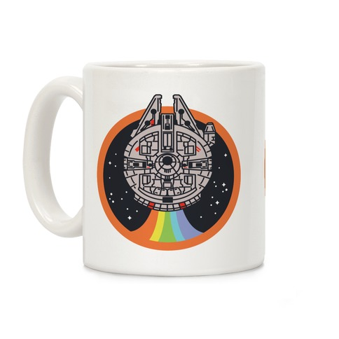 Retro Rainbow Falcon Coffee Mug