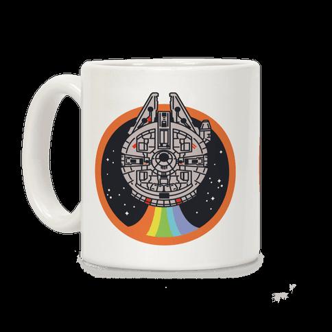 Retro Rainbow Falcon Coffee Mug