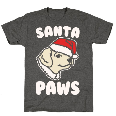 Santa Paws White Print T-Shirt