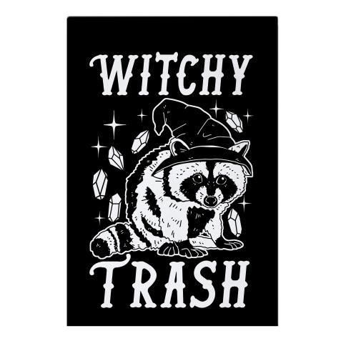 Witchy Trash Garden Flag