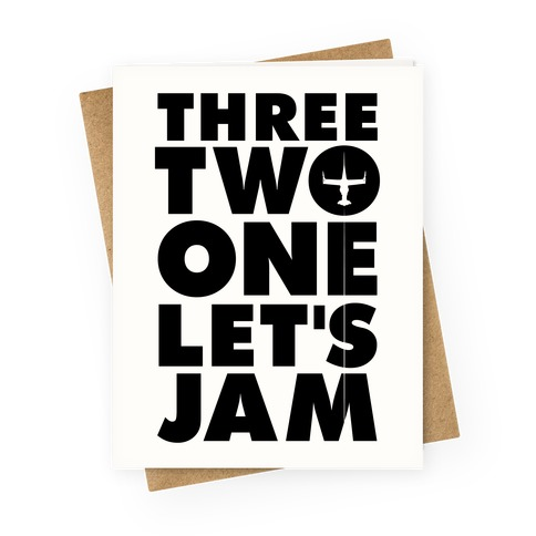 Three Two One Let's Jam Cowboy Bebop Greeting Card