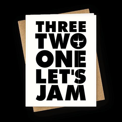 Three Two One Let's Jam Cowboy Bebop Greeting Card
