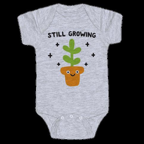 Still Growing Plant Baby Onesy