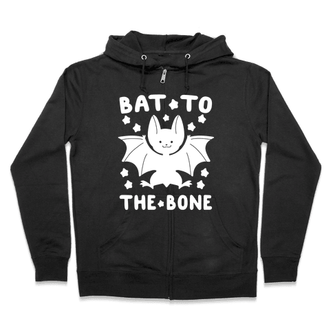 Bat to the Bone Zip Hoodie