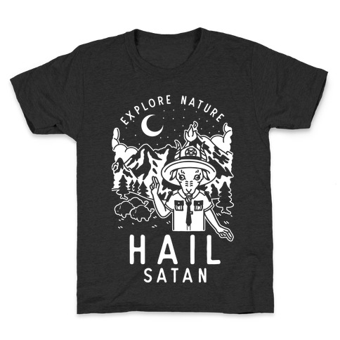 Explore Nature Hail Satan Kids T-Shirt