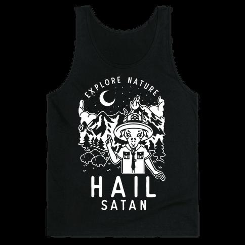 Explore Nature Hail Satan Tank Top