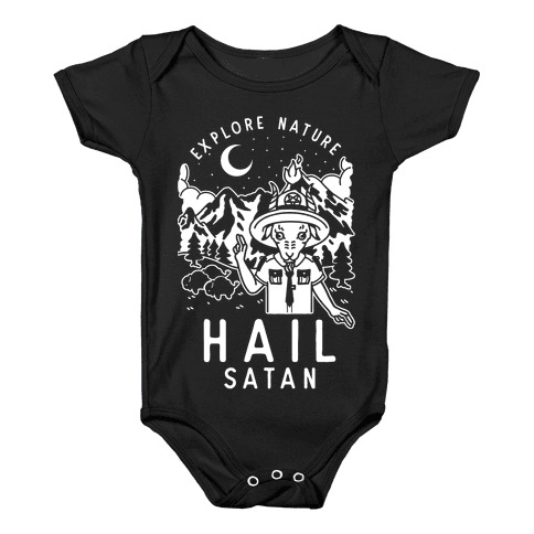 Explore Nature Hail Satan Baby Onesy