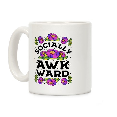Socially Awkward (Floral) Coffee Mug