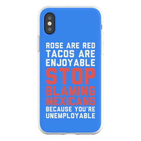 Rose are Red Tacos Are Enjoyable Phone Flexi-Case