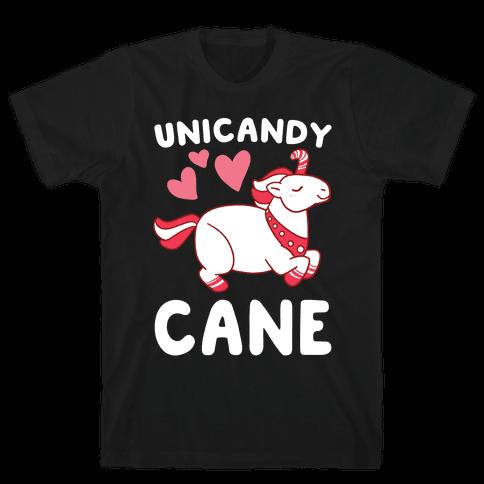Uni-Candy Cane  Mens T-Shirt